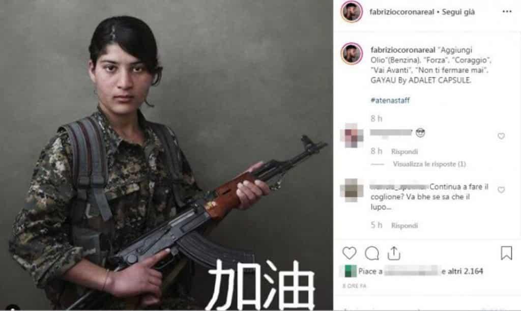 Fabrizio Corona esce dal carcere, sul profilo Instagram strane immagini e didascalie