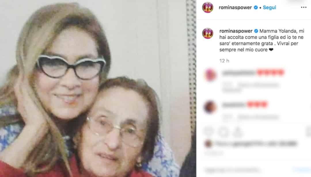 Romina Power ricorda la suocera Jolanda e la figlia Ylenia, sui social il post toccante