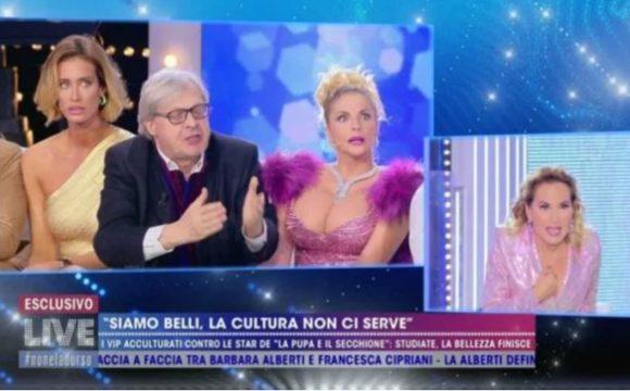 """Vittorio Sgarbi scontro con Barbara D'Urso """"Berlusconi mi ha parlato…."""""""