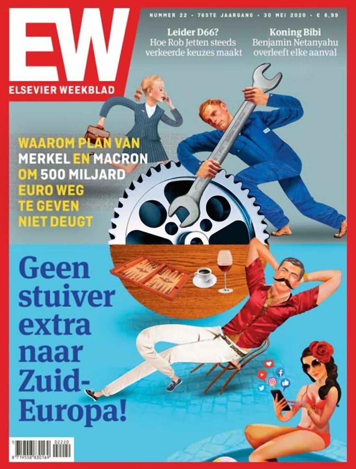 Italiani accusati di essere parassiti, la copertina vergognosa di un settimanale olandese