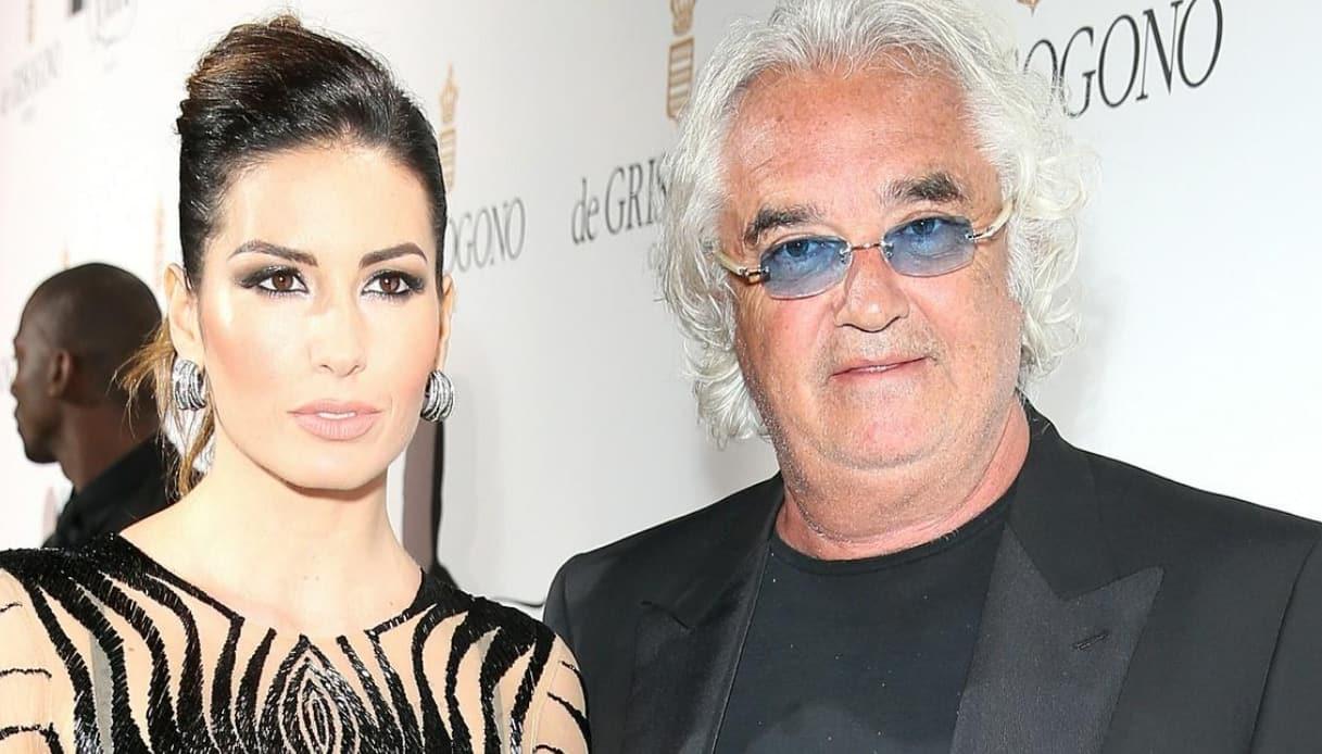 Elisabetta Gregoraci e Flavio Briatore faccia a faccia con il presunto flirt Coletti