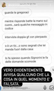 Il messaggio per Elisabetta Gregoraci