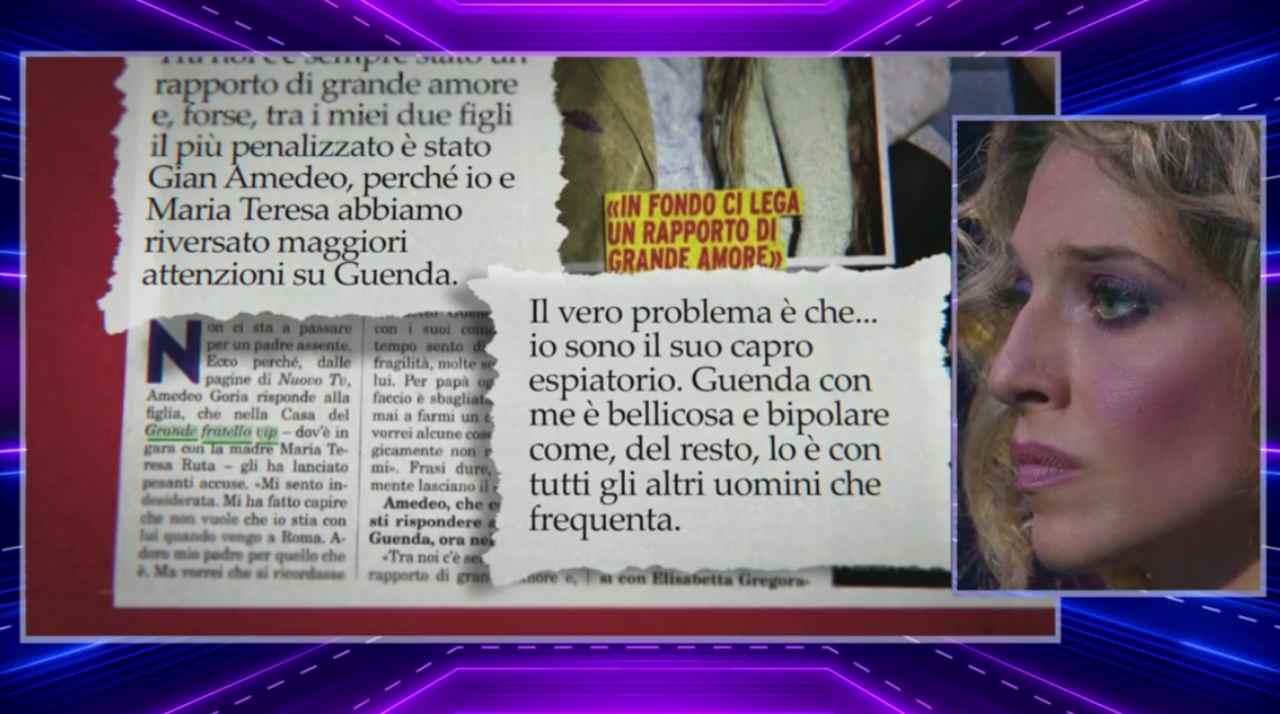 Amedeo Goria rischia la querela, dichiarazioni shock sulla figlia Guenda al Gf Vip 5