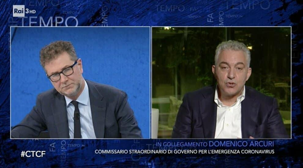 Che tempo che fa, Fabio ospita in studio Domenico Arcuri: il gesto dell'ospite non passa inosservato