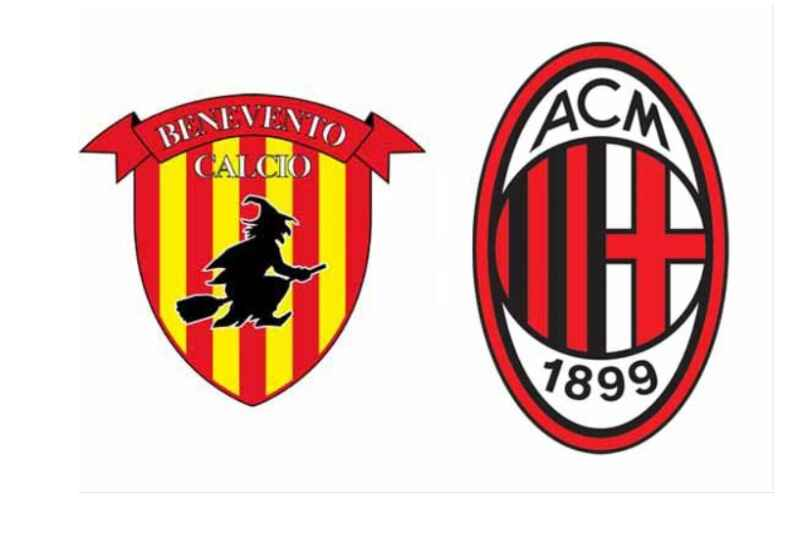No Rojadirecta Benevento – Milan Streaming Gratis come vedere Diretta Live TV (Ore 18:00)